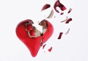 hjärta som brister